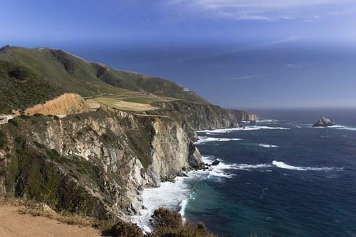 Ocean, Coast, California, Pacific Coast Highway