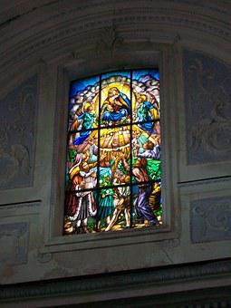 Church, Stained Glass Window, Sicily, Catania