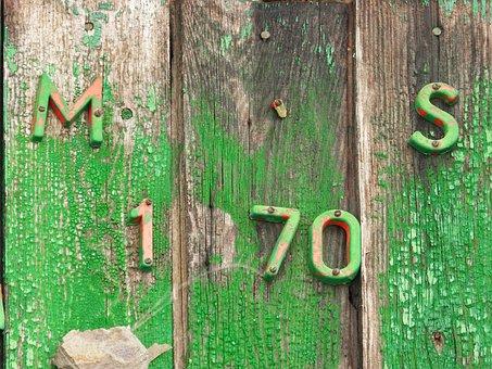 Door, Painting, Chipped, Lyrics, Vintage