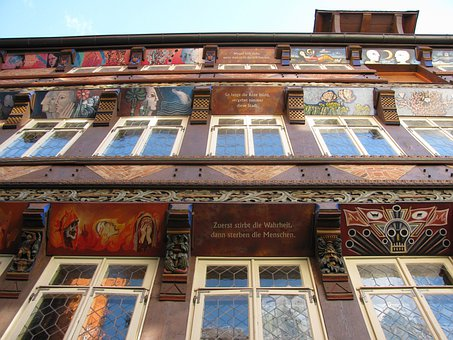 Hildesheim, Germany, Building, Details, Close-up, Art