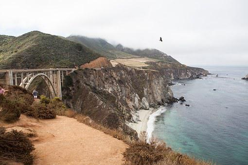 Big Sur, Bixby Bridge, Ocean, California, Coast