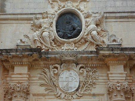 Grand Master, Coat Of Arms, Mdina, Input, Malta, Portal