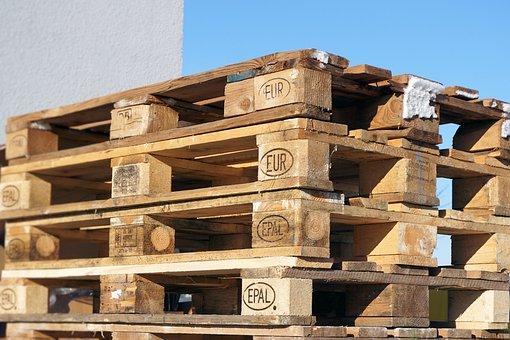 Euro Pallets, Wood, Pallets, Industry, Pattern, Epal