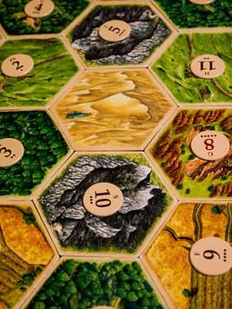 Board Game, Settlers Of Catan, Game, Pieces, Table