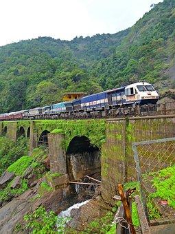 Train, Locomotive, Indian Railway, Rail Bridge
