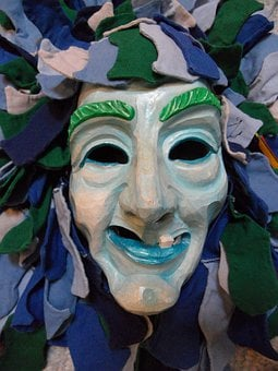 Mask, Face, Costume, Mysterious, Carved, Haes, Fig