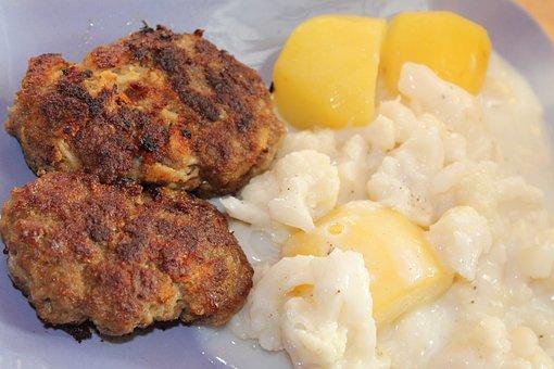 Meatballs, Meat Balls, Salt Potatoes, Cauliflower