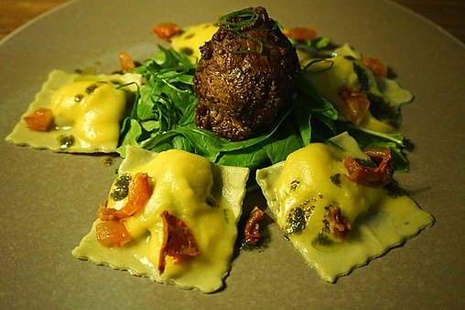 Meatball Ravioli, Italian Food, Pasta From Italy