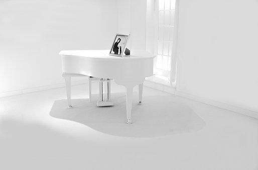 Piano, White, Classical, Lacquer, Classic, Note, Melody