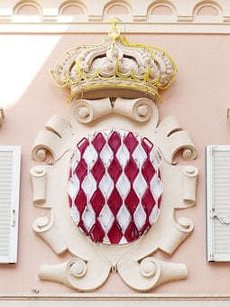 Coat Of Arms, Crown, Monaco, Grimaldi, Principality Of