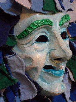Mask, Profile, Face, Carved, Portrait, Fig, Fasnet