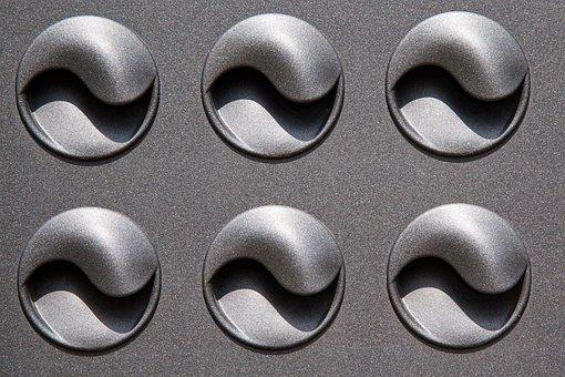 Air Vents, Metal, Silver, Ranking, Round, Yin And Yang