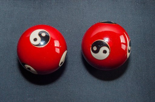 Qi Gong, Balls, Red, Hollow Balls, Yin, Yang, Round