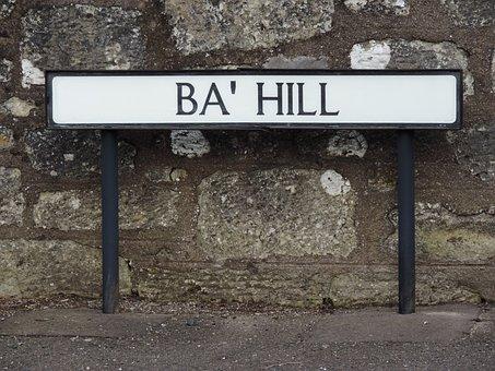 Sign, Milnathort, Kinross, Perth, Perthshire, Hill