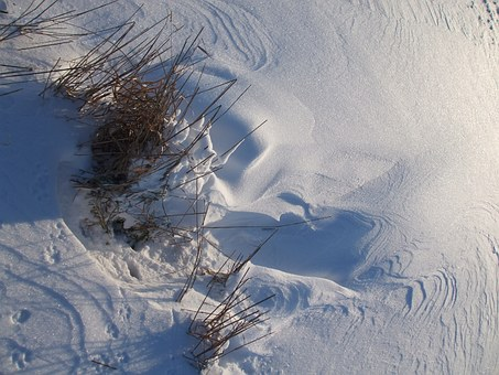Snow, Traces, Drift, Winter Mood, Pattern