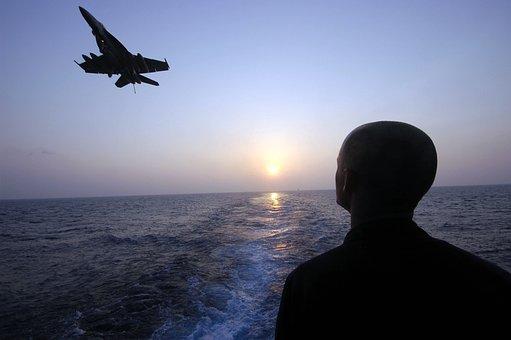 Sea, Ocean, Water, Sunset, Sky, Clouds