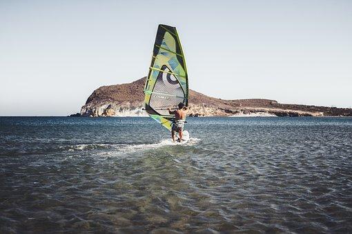 Sea, Beach, Surfer, Ocean, Sport, Surfing, Wind
