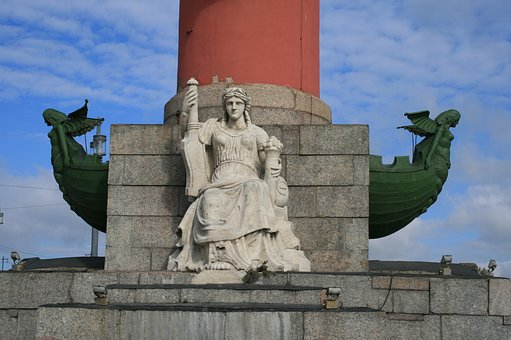 Column, Rostral, Tall, Red, Maritime, Navy, Victories
