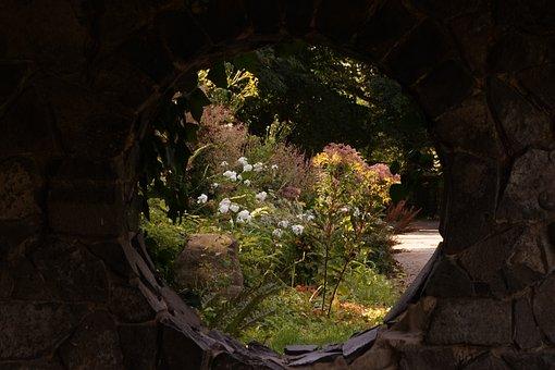 By Looking, Wall, Window, Flowers, Stone Wall