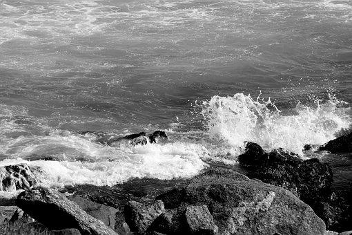 Wave, Mar, Stone, Water, Beach, Nature, Ocean