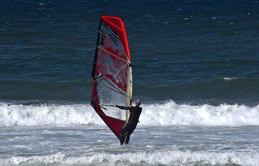 Wind Surfer, Surfer, Man, Sport, Sail, Board, Surf, Sea