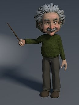 Professor, 3d Figure, Pointing At, Showing, Indicate