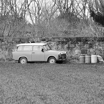 Satellite, Ddr, East Germany, Auto, Oldtimer, Trabi