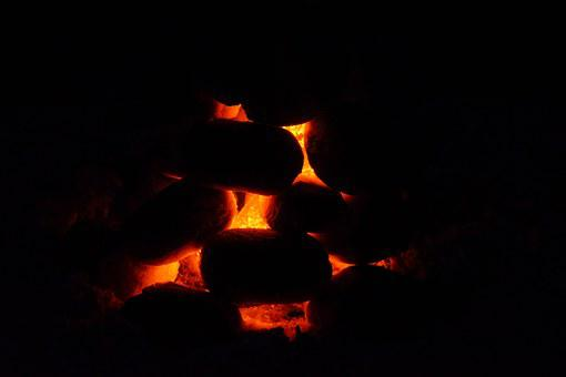 Carbon, Charcoal, Glow, Burn, Briquettes