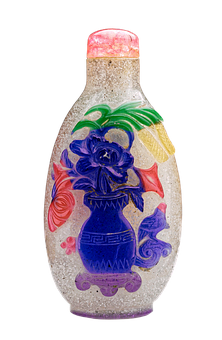 Snuff Bottle, Snuff, Bottle, Old, Flower Vase, China