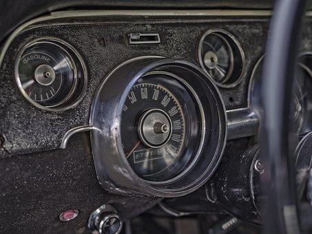 Dashboard, Car, Vintage, Car Dashboard, Vehicle