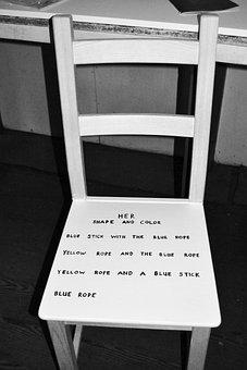 Chair, Furniture, Writing, Graffiti, Home, Design