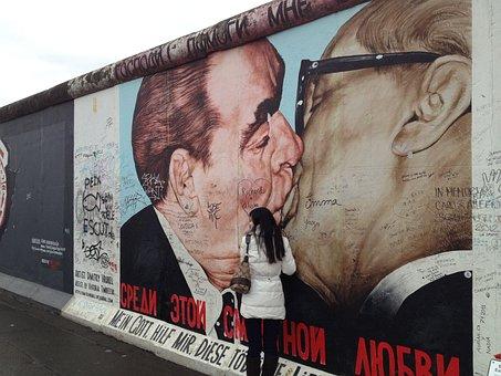 Berlin, Wall, Kiss, Germany, Landmark, East Germany