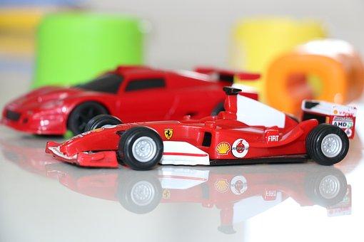 Toys, Ferrari, Car, Red, Boys, Small Car, Model Car