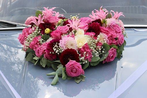 Wedding, Floral Decorations, Wedding Car, Marriage
