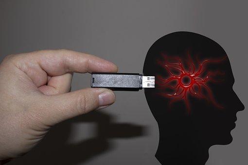 Hand, Usb Stick, Head, Pychologie, Feelings, Suggestion