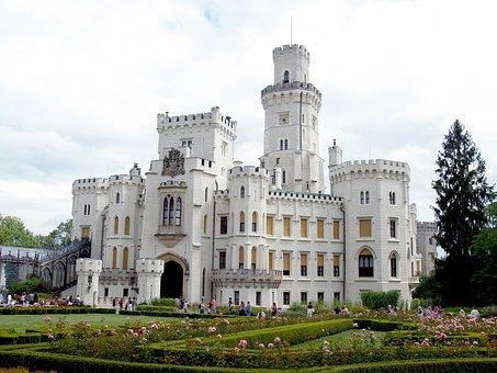 Hluboka Castle, Garden, Architecture, History, Flowers