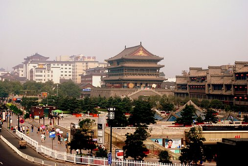 Tower, Architecture, History, Drum, Xi 039 An, Xian