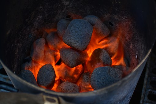 Fire, Grill, Grilling, Briquette, Flame, Hot, Glow