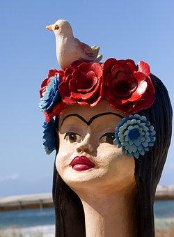 Woman, Sculpture, Art, Head, Face, Human, Female, Girl