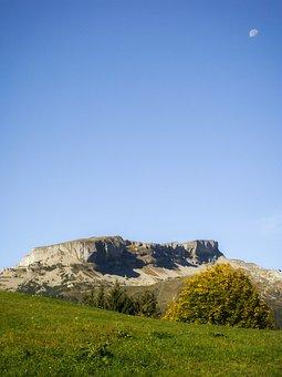 High Ifen, Alpine, Moon, Sky, Kleinwalsertal