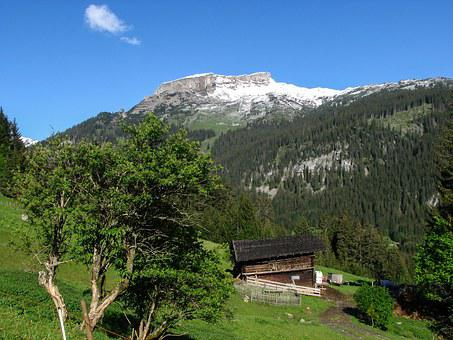 Alpine, Kleinwalsertal, High Ifen, Spring, Mountain