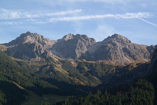 Sheep Alps Heads, Mountains, Alpine, Mound Formation