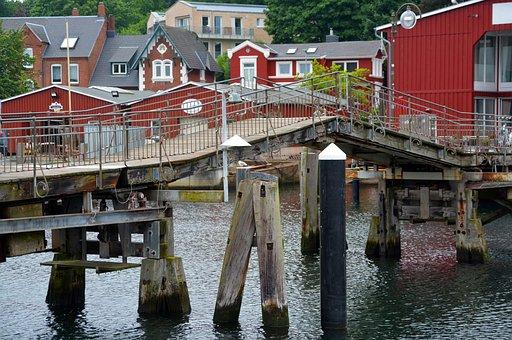 Bridge, Lift Bridge, Old, Web