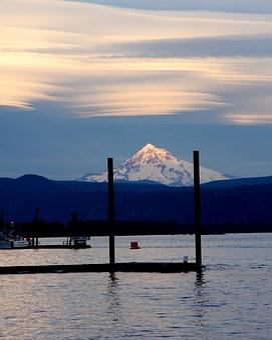 Mount Hood, Mountain, River, Oregon, Hood, Landscape