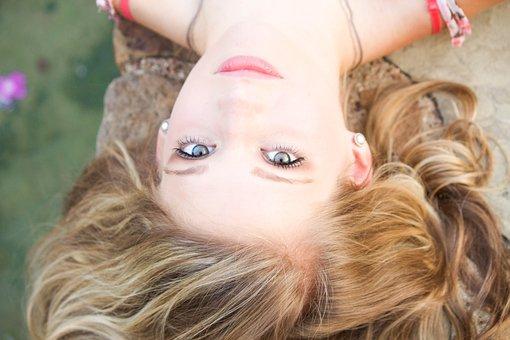Girl, Senior Pictures, Botanical Garden, Water, Blonde