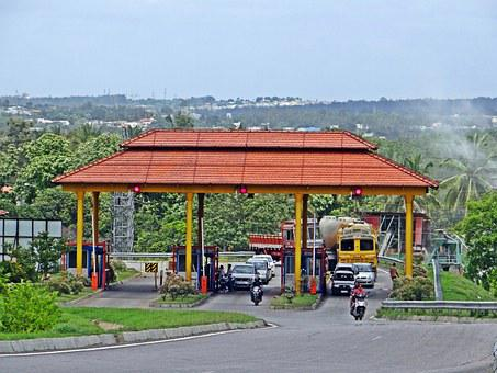 Highway, Interchange, Slip Road, Tax Check, Toll Gate