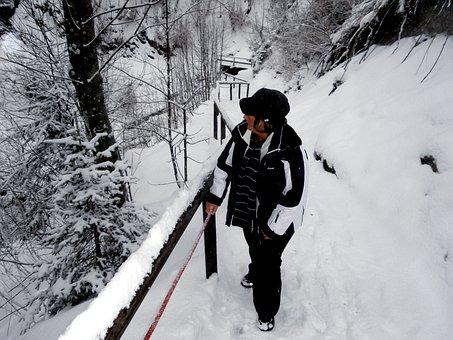Snow, Cold, Kleinwalsertal, Swabian Hut Trail, Active