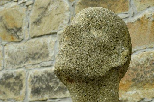 Statue, Portrait, Without A Face, Hluboká, Sadness