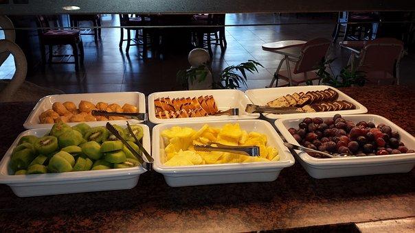 Buffet, Dessert, Fruits, Cake, Sweet, Grapes, Kiwi