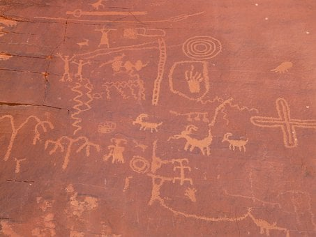 Rock Painting, Rock Carving, Valley Of Fire